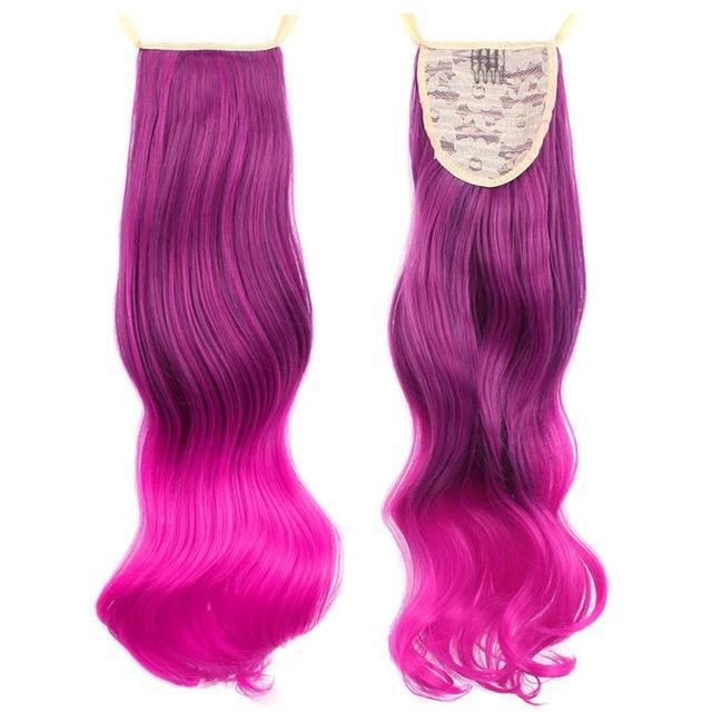 unicorn hair and glitter station